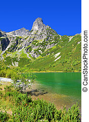 Zelene pleso in High Tatra mountain - Beautiful summer...