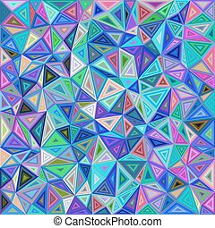 Colorful chaotic triangle mosaic tile background