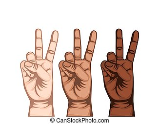 hand peace and love symbol