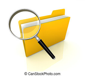 folder or file search concept illustration