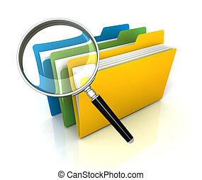 folder or file search concept illustration