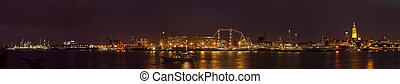 Antwerp skyline - Panorama photo of the city of Antwerp, at...
