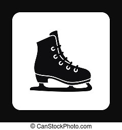Skating icon in simple style