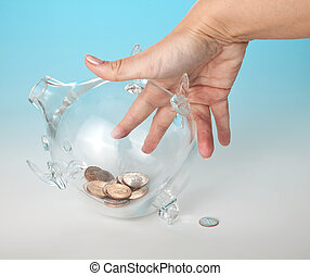 Reaching for the money