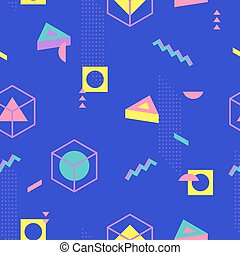 Abstract Geometric Pattern fashion 80-90s. - It can be used...