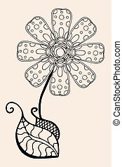 Sketch of abstract flower - Hand Drawn Sketch of abstract...