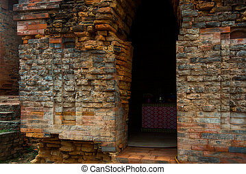 Thap Poshanu Towers - Asia. Vietnam.Phan Thiet. Old and...
