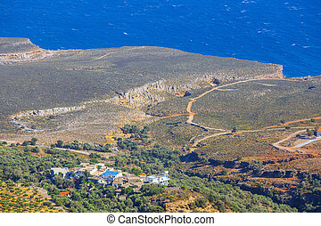 Chora, Sfakion, pueblo, en, Crete, grecia