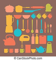 Kitchen appliances Cooking tools and kitchenware equipment...