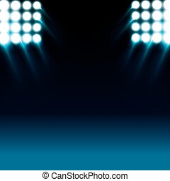 reflector lights and blue stage background - reflector white...