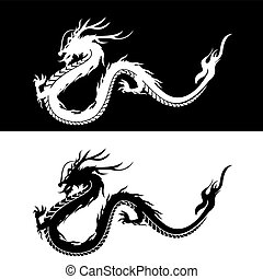 Chinese Dragon Silhoutte - Picture of Chinese Dragon