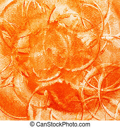 Abstract background with circles - Orange abstract...