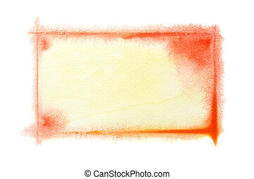 Yellow-red watercolor frame - Yellow - red watercolor frame...