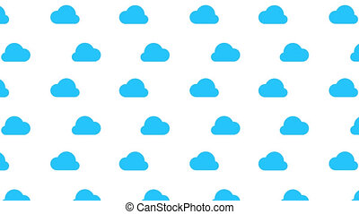 Flowing blue cloud on white background with alpha channel...