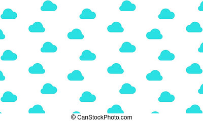Flowing blue cloud on white background with alpha channel....