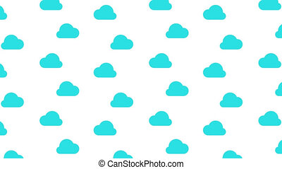 Flowing blue cloud on white background with alpha channel. Loop animation