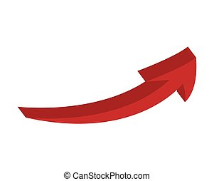 arrow up growth icon vector illustration design