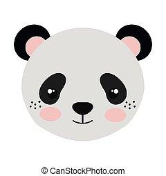 panda bear cartoon - panda bear animal character cute...