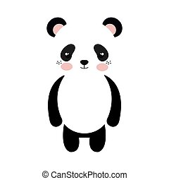 panda bear cartoon - panda bear animal character cute...