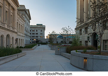 Harrisburg Capitol Buildings - Marble pathway that leads...