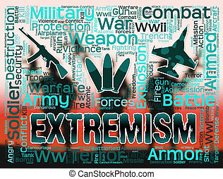 Extremism Words Indicates Radicalism Fundamentalism And...