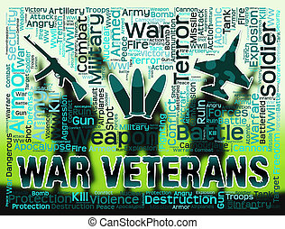 War Veterans Indicates Armed Combat Military Service - War...
