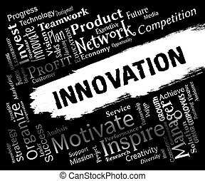 Innovation Words Represents Ideas Transformation And Ideas -...