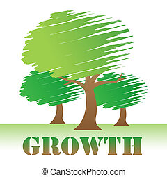 Growth Trees Means Natural Improvement Or Reforestation -...