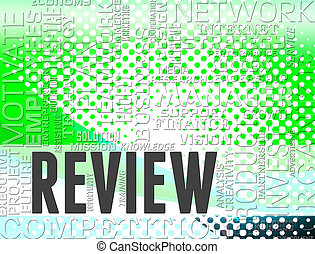 Review Words Indicates Appraisal Assess And Reviews - Review...