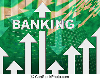 Banking Graph Shows E-Banking And Finance Chart
