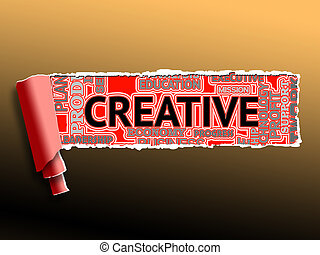 Creative Word Indicates Artistic Creation And Ideas