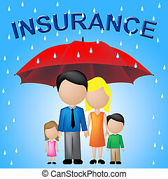 Family Insurance Shows Household Policy And Cover - Family...