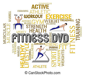 Fitness Dvd Indicates Physical Activity Work Out - Fitness...
