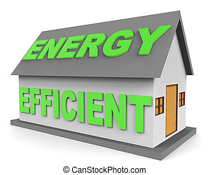 Energy Efficient House Represents Homes 3d Rendering -...