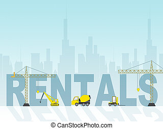 House Rentals Shows Real Estate And Building Leases - House...