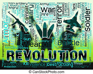 Revolution Words Means Regime Change Or Coup - Revolution...