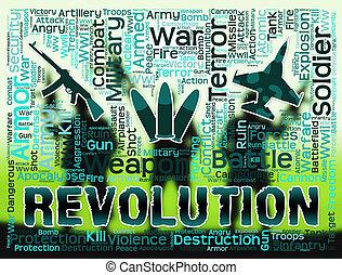 Revolution Words Means Regime Change Or Coup - Revolution...