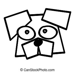 dog mascot character funny vector illustration design