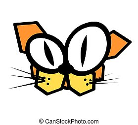 cat mascot character funny vector illustration design
