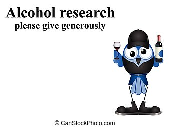 Alcohol research on white background with copy space for own...