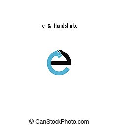 Creative E- letter icon abstract logo design vector...