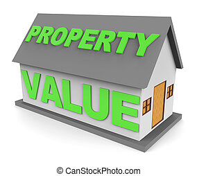 Property Value Indicates House Prices 3d Rendering