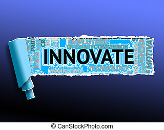Innovate Word Means Creativity Reorganization And Innovation...