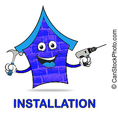 House Installation Shows Building Improvement And Fixing