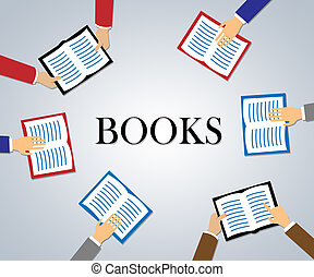 Reading Books Means Non Fiction And Literacy - Hands...