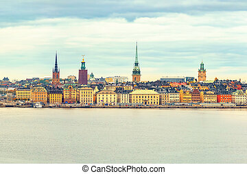 Panorama of the Old Town Stockholm - Panorama of the Old...