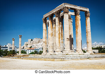Ancient Temple of Zeus in Athens - Ancient Temple of Zeus...