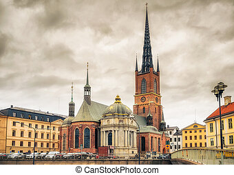 Riddarholm Church In Stockholm, Sweden - Riddarholm Church...