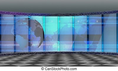 News TV Studio Set -200 - News TV Studio Set 200- Virtual...