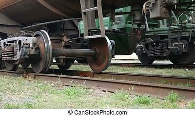 gets train underway on the iron wheels video - gets train...